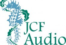 2-color JCF Audio identity