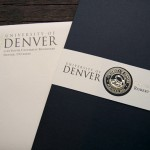 Foil stamped outbound envelope and invitation